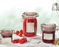 LEIFHEIT  Preserving and Storage Glass Jar With Clip Top Fastening Seal 1140ml